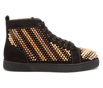 Galvalouis Spike-embellished Suede Trainers