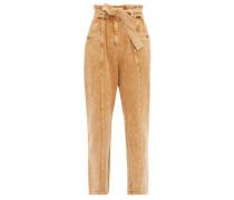 Idun Paperbag-waist Acid-wash Jeans