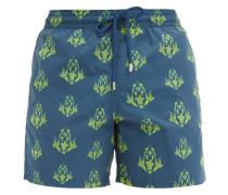 Moorea Turtle-print Shell Swim Shorts