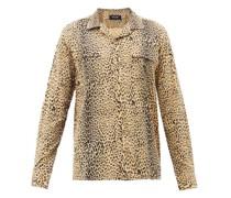Leopard-print Canvas Shirt