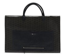 Closer Coated-canvas And Leather Garment Bag