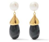 Audrey Pearl, Jade & 18kt Gold-vermeil Earrings