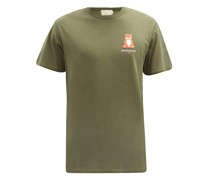 Lotus Fox Cotton-jersey T-shirt