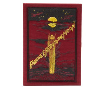 From The Earth To The Moon Embroidered Box Clutch