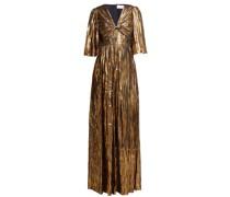Striped Silk-blend Chiffon Gown