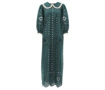 Charlie Broderie-anglaise Linen Dress