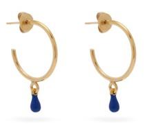 Casablanca Resin-drop Hoop Earrings