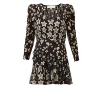 Caden Metallic-star Silk-blend Crepe Mini Dress