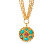 Midas Turquoise & Rhodonite Pendant Necklace