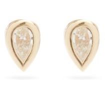 Diamond & 14kt Gold Stud Earrings