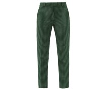 Aries Cropped Houndstooth-check Tweed Trousers