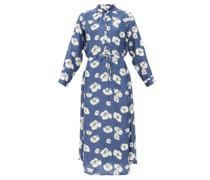 Betina Floral-print Organic-cotton Shirt Dress