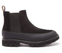 Abner Leather-trimmed Chelsea Boots