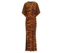 Obie V-neck Tiger-print Jersey Dress