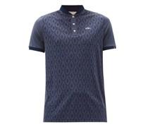 Lance Geometric-jacquard Jersey Henley T-shirt
