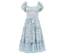 Maisie Square-neck Floral-print Cotton Sun Dress