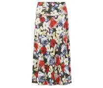Elvin Poppy-print Midi Skirt