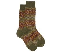 Fellcroft Fair Isle-patterned Socks