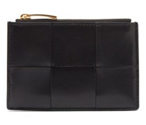 Intrecciato Leather Zipped Cardholder