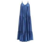 Genevieve Tiered Silk-habotai Maxi Dress