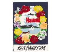 Pan-american Airways Embroidered Book Clutch