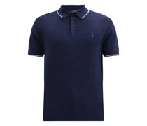 Logo-embroidered Knitted Cotton-blend Polo Shirt