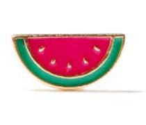 Watermelon Enamel & 14kt Gold Single Earring