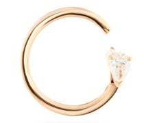 Serti Carrés Alternés Diamond & 18kt Gold Earring