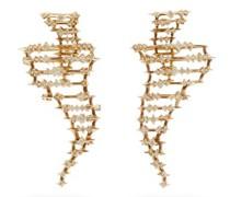 Big Tornado Diamond & 18kt Gold Earrings