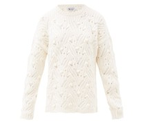 Arabella Open-knit Cashmere Sweater