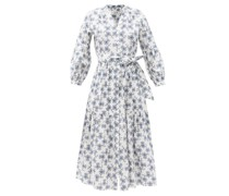The Alice Thistle-print Organic-cotton Voile Dress