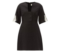 Dokos Embroidered Linen Mini Dress