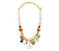Vista Pearl & Gold-plated Charm Necklace