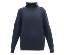 Rib-knit Cotton Roll-neck Sweater