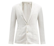 Single-breasted Linen Jacket