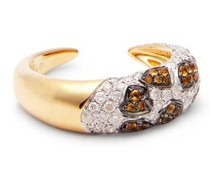 Leopard Diamond, Citrine & 18kt Gold Ring