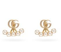 Gg-logo And Detachable Faux-pearl Earrings