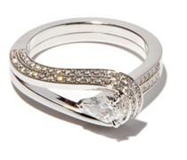 Serti Inversé Diamond & 18kt White-gold Ring