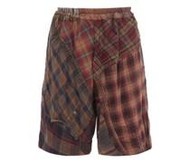 Lesley Patchwork Cotton Shorts