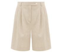 Rocco High-rise Cotton-blend Seersucker Shorts