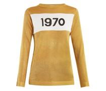 1970-intarsia Metallic Sweater