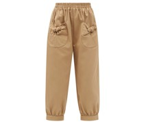 Bow-pocket Cotton-twill Trousers