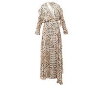 Pura Kyoto Woodblock-print Fil-coupé Wrap Dress