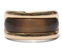 Tag Horn & 18kt Gold Ring