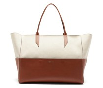 Incognito Large Linen And Leather Tote Bag