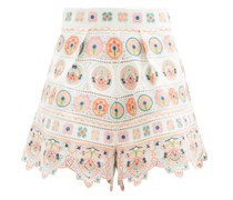 Brighton Embroidered Cotton Shorts