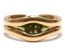 Trillion Tourmaline & 18kt Gold Ring