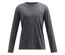 Cotton-blend Jersey Long-sleeved T-shirt