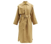 Coral Single-breasted Shell Trench Coat