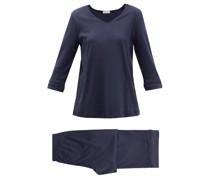 Sania Mercerised Cotton-jersey Pyjamas